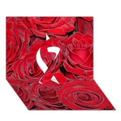 Red Roses Love Ribbon 3d Greeting Card (7x5)  by yoursparklingshop