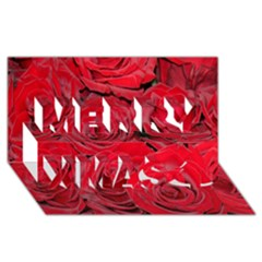 Red Roses Love Merry Xmas 3d Greeting Card (8x4)  by yoursparklingshop