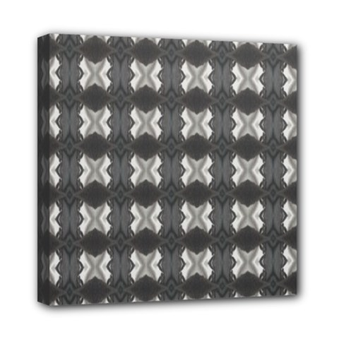 Black White Gray Crosses Mini Canvas 8  X 8  by yoursparklingshop