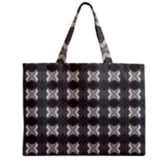 Black White Gray Crosses Zipper Mini Tote Bag by yoursparklingshop