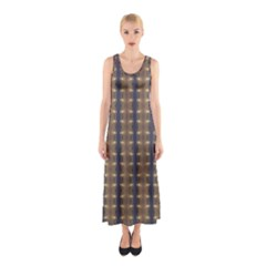 Black Brown Gold Stripes Full Print Maxi Dress by yoursparklingshop