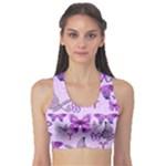 Purple Awareness Butterflies Sports Bra