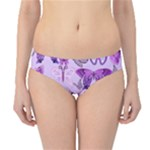 Purple Awareness Butterflies Hipster Bikini Bottoms
