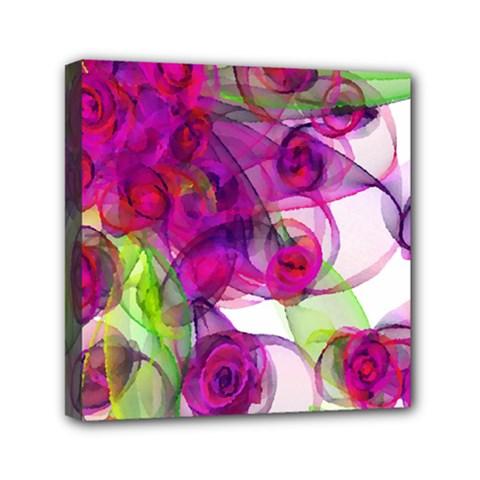 Violet Mini Canvas 6  X 6  by SugaPlumsEmporium