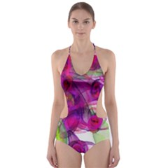Violet Cut-Out One Piece Swimsuit