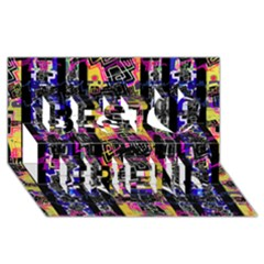 Urban Tribal Stripes Best Friends 3d Greeting Card (8x4)  by dflcprints