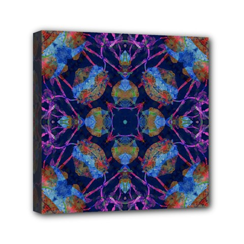 Ornate Mosaic Mini Canvas 6  X 6  by dflcprints