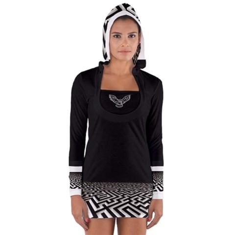 Women s Long Sleeve Hooded T-shirt
