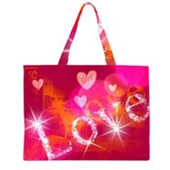 Love Zipper Large Tote Bag by SugaPlumsEmporium