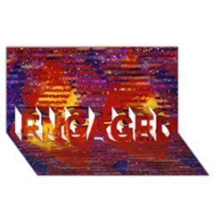 Conundrum Iii, Abstract Purple & Orange Goddess Engaged 3d Greeting Card (8x4)  by DianeClancy