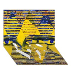 Conundrum Ii, Abstract Golden & Sapphire Goddess Love Bottom 3d Greeting Card (7x5)  by DianeClancy