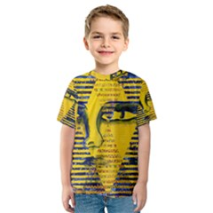Conundrum Ii, Abstract Golden & Sapphire Goddess Kid s Sport Mesh Tee by DianeClancy