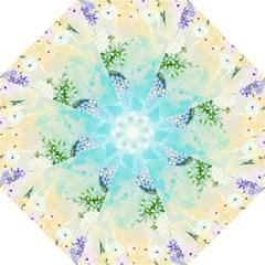 Watercolor Fresh Flowery Background Hook Handle Umbrellas (large) by TastefulDesigns