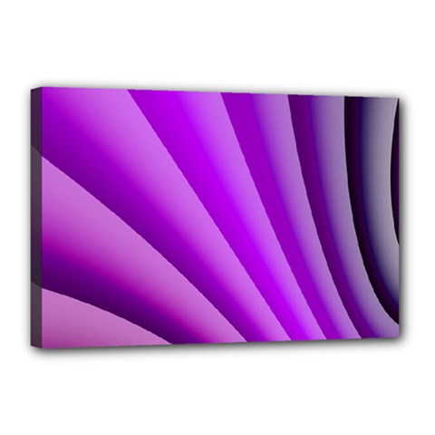 Gentle Folds Of Purple Canvas 18  X 12  by FunWithFibro