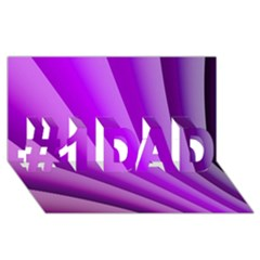 Gentle Folds Of Purple #1 Dad 3d Greeting Card (8x4)  by FunWithFibro