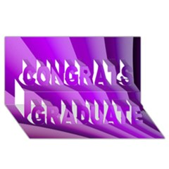Gentle Folds Of Purple Congrats Graduate 3d Greeting Card (8x4)  by FunWithFibro
