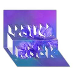 Flowers Cornflower Floral Chic Stylish Purple  You Rock 3d Greeting Card (7x5)  by yoursparklingshop