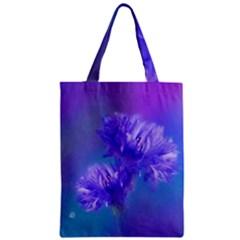 Flowers Cornflower Floral Chic Stylish Purple  Zipper Classic Tote Bag by yoursparklingshop