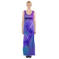 Flowers Cornflower Floral Chic Stylish Purple  Maxi Thigh Split Dress by yoursparklingshop