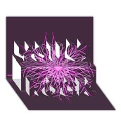 Pink Kaleidoscope Flower Mandala Art You Rock 3d Greeting Card (7x5)  by yoursparklingshop