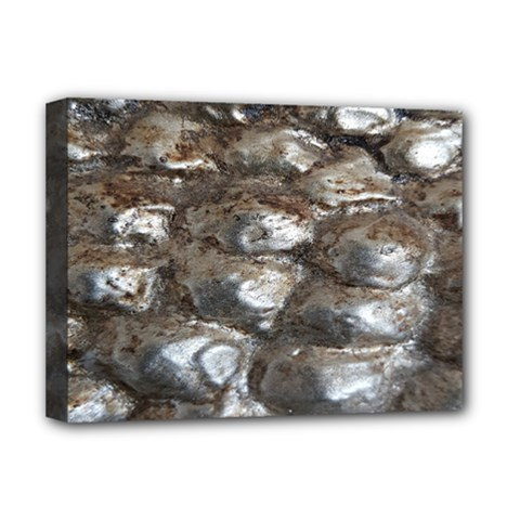 Festive Silver Metallic Abstract Art Deluxe Canvas 16  X 12   by yoursparklingshop
