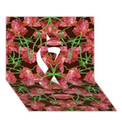 Floral Collage Pattern Ribbon 3d Greeting Card (7x5)  by dflcprints