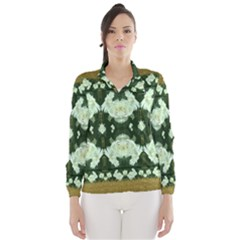 Roses And Flowers In Gold Wind Breaker (women) by pepitasart