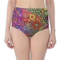 Circle Fantasies High Waist Bikini Bottoms by KirstenStar