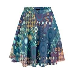 Babybluebubbles High Waist Skirt by KirstenStar