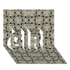 Interlace Arabesque Pattern Girl 3d Greeting Card (7x5)  by dflcprints