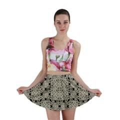 Interlace Arabesque Pattern Mini Skirt by dflcprintsclothing