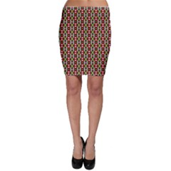 Christiane Yvette Small Pattern Red Yellow Green Bodycon Skirts by CircusValleyMall