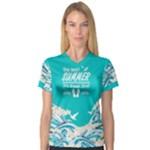 wave - Women s V-Neck Sport Mesh Tee