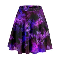Purple Skulls Goth Storm High Waist Skirt by KirstenStar