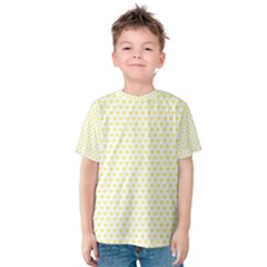 Small Yellow Hearts Pattern Kid s Cotton Tee