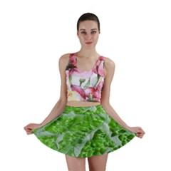 Festive Chic Green Glitter Shiny Glamour Sparkles Mini Skirt by yoursparklingshop
