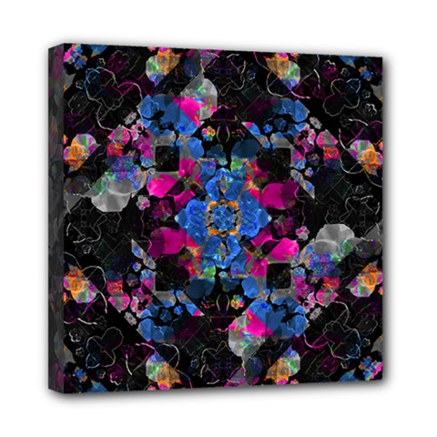 Stylized Geometric Floral Ornate Mini Canvas 8  X 8  by dflcprints