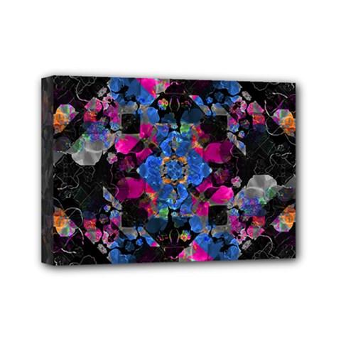 Stylized Geometric Floral Ornate Mini Canvas 7  x 5  by dflcprints