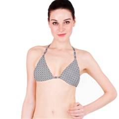 Grey Quatrefoil Pattern Bikini Top by Zandiepants