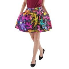 Midnight Dancers A Line Pocket Skirt by KirstenStar