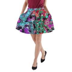 Bubble Chaos A Line Pocket Skirt by KirstenStar
