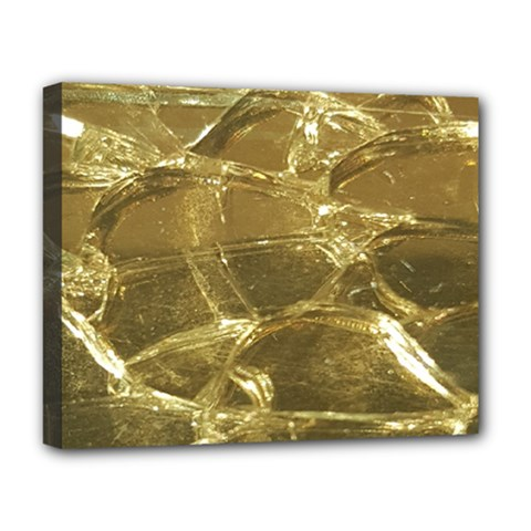 Gold Bar Golden Chic Festive Sparkling Gold  Deluxe Canvas 20  X 16   by yoursparklingshop