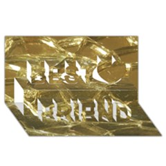 Gold Bar Golden Chic Festive Sparkling Gold  Best Friends 3d Greeting Card (8x4)  by yoursparklingshop