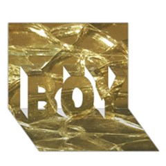 Gold Bar Golden Chic Festive Sparkling Gold  Boy 3d Greeting Card (7x5) by yoursparklingshop