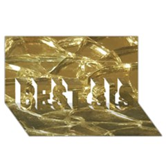 Gold Bar Golden Chic Festive Sparkling Gold  Best Sis 3d Greeting Card (8x4)  by yoursparklingshop