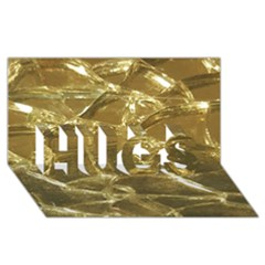 Gold Bar Golden Chic Festive Sparkling Gold  Hugs 3d Greeting Card (8x4)  by yoursparklingshop