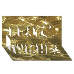 Gold Bar Golden Chic Festive Sparkling Gold  Best Wish 3d Greeting Card (8x4)  by yoursparklingshop