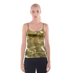 Gold Bar Golden Chic Festive Sparkling Gold  Spaghetti Strap Top by yoursparklingshop