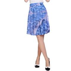 Festive Chic Light Blue Glitter Shiny Glamour Sparkles A-Line Skirt by yoursparklingshop