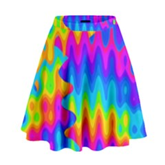 Amazing Acid Rainbow High Waist Skirt by KirstenStar